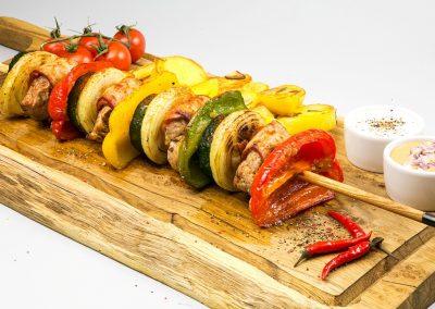 XXL shish kebab from pork tenderloin